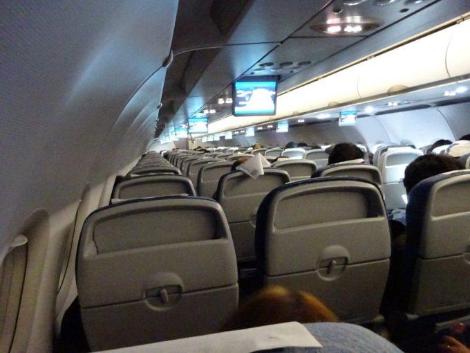 CA462便はほぼ満席