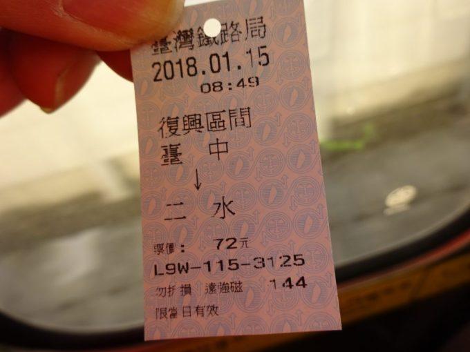 台中駅自動販売機で切符購入