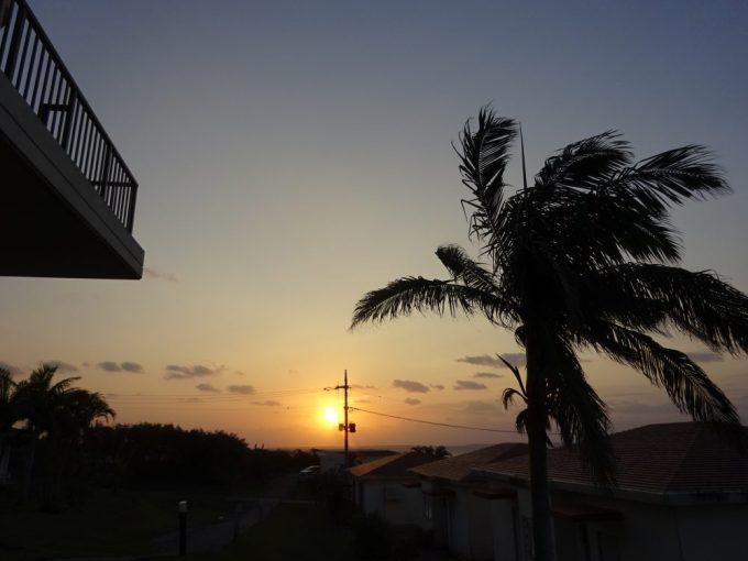 西表島は日の出も遅い