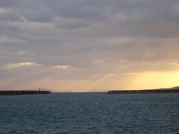 西表島の上原港からの景色