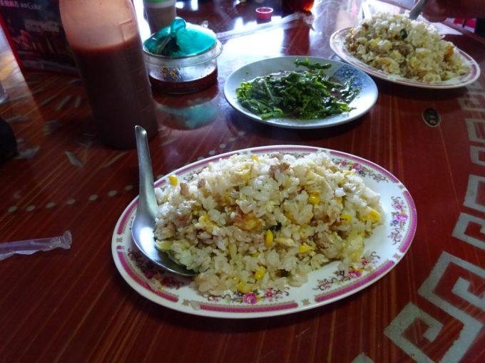 炒飯と空芯菜炒め