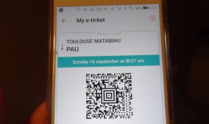 SNCFスマホアプリでチケット購入