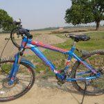 ルンビニでレンタサイクル、マウンテンバイクは1時間100ルピーでした:ネパール旅 4日目