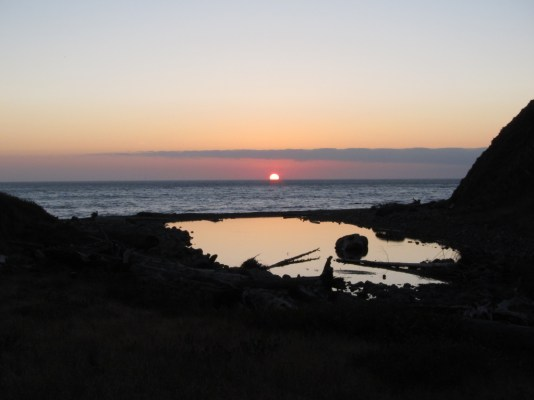 Sunset and tidal pool