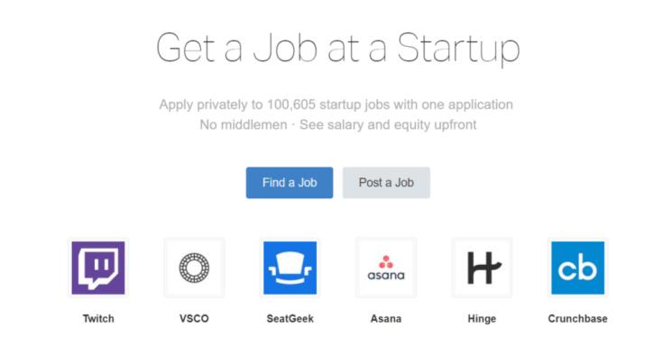 Remote Jobs Websites AngelList
