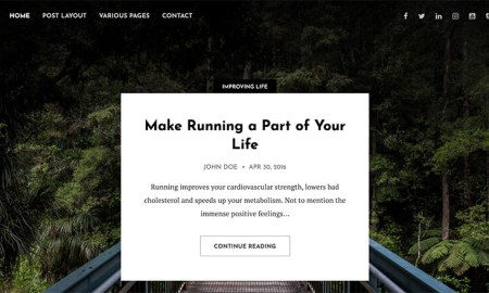 Candor WordPress Theme for Bloggers (Clean and Simple)