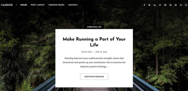 Tema WordPress di Candor per i blogger (pulito e semplice)