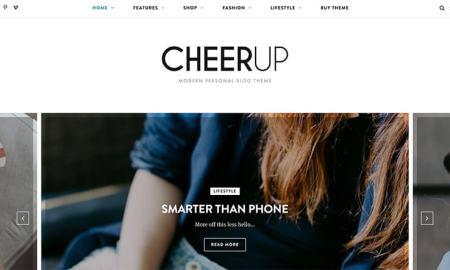 CheerUp Modern WordPress Theme for Bloggers