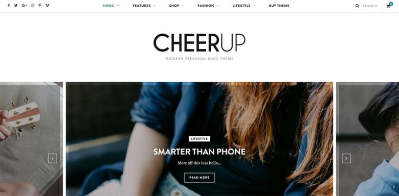 Tema WordPress moderno CheerUp per i blogger
