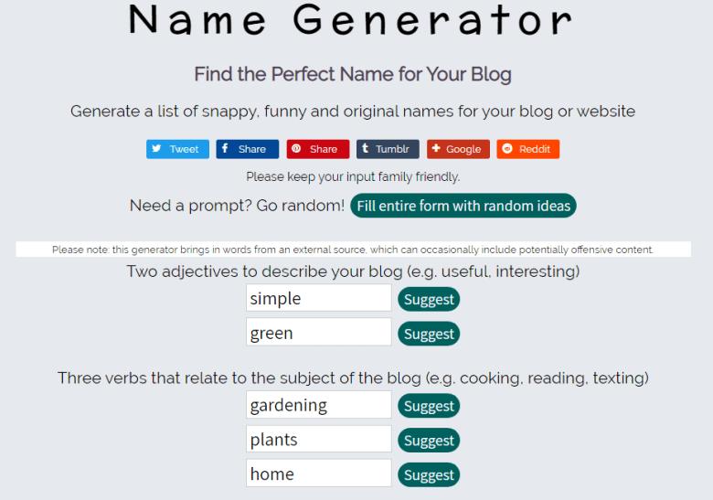 Strumento per la generazione di nomi di dominio Domain Generator da utilizzare