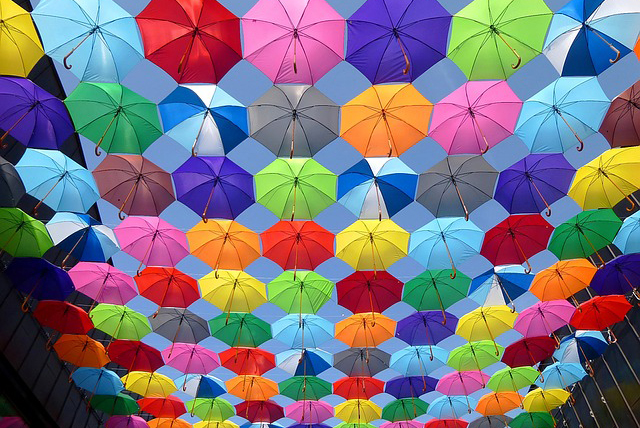 Summer umbrella displays
