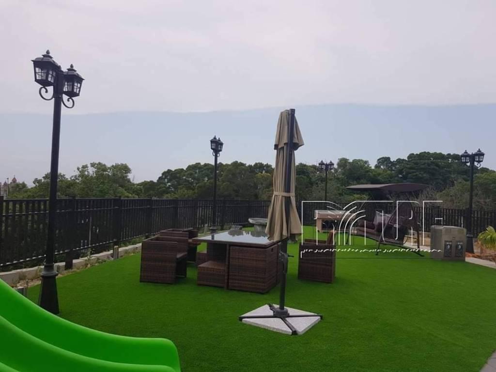 新竹香山豪宅庭院人工草景觀