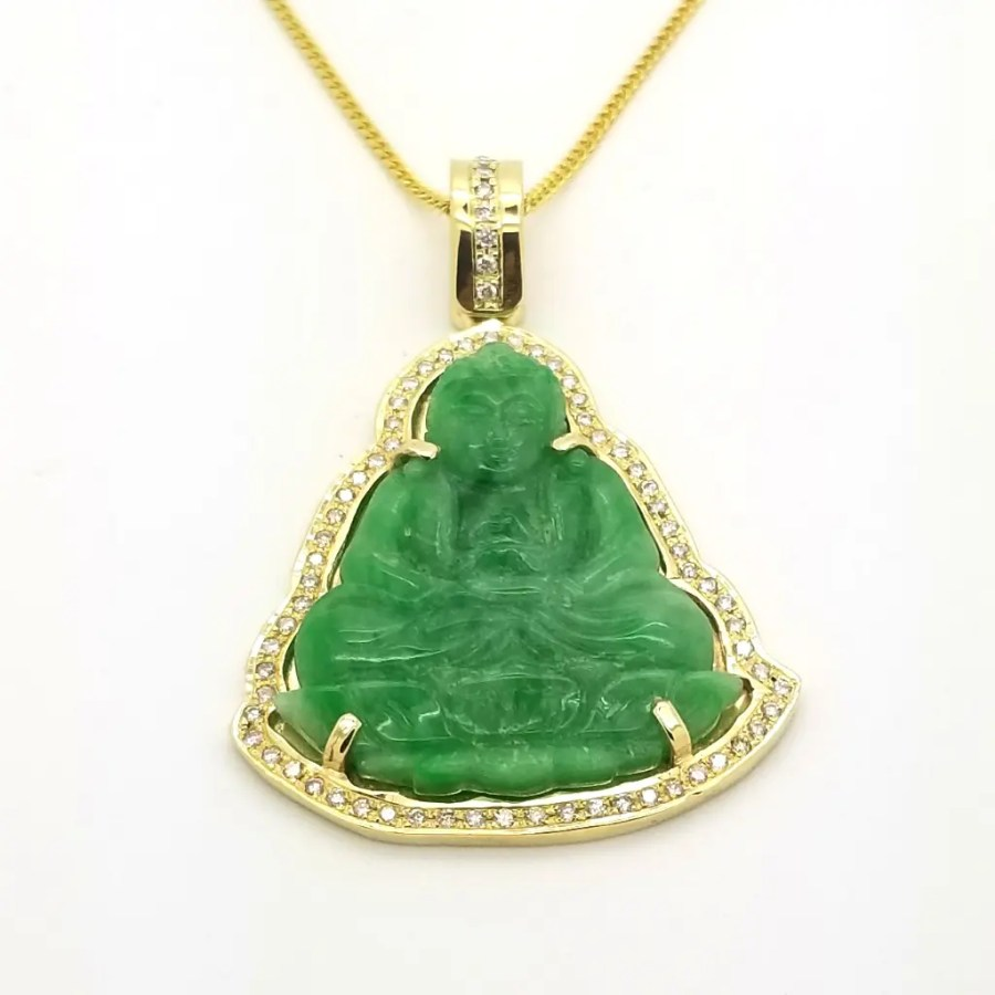 Green jade sitting buddha pendant green jade sitting buddha pendant zoom start slideshowstop slideshow mozeypictures