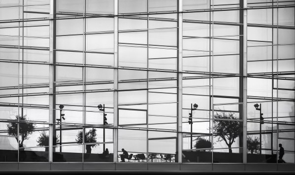 dansk arkitektur, arkitekt fotograf, dr byen, long shutter exposure, architecture photography, black and white photography,