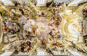 Rzym barokowy - kościół św. Ignacego - sklepienie 3D głównej nawy