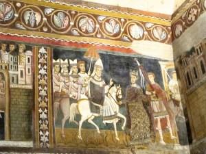 Rzym - kaplica św. Sylwestra - fragment fresków