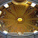 Rzym zabytki - wnętrze kopuły kościoła św. Andrzeja na Kwirynale