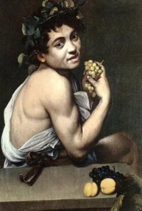 Caravaggio - obraz Chory Bachus