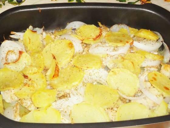 Baccalà alla romana - dorsz z ziemniakami z pieca