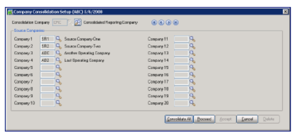 Consolidate or Merge Multiple Sage 100 ERP Company Codes Into One
