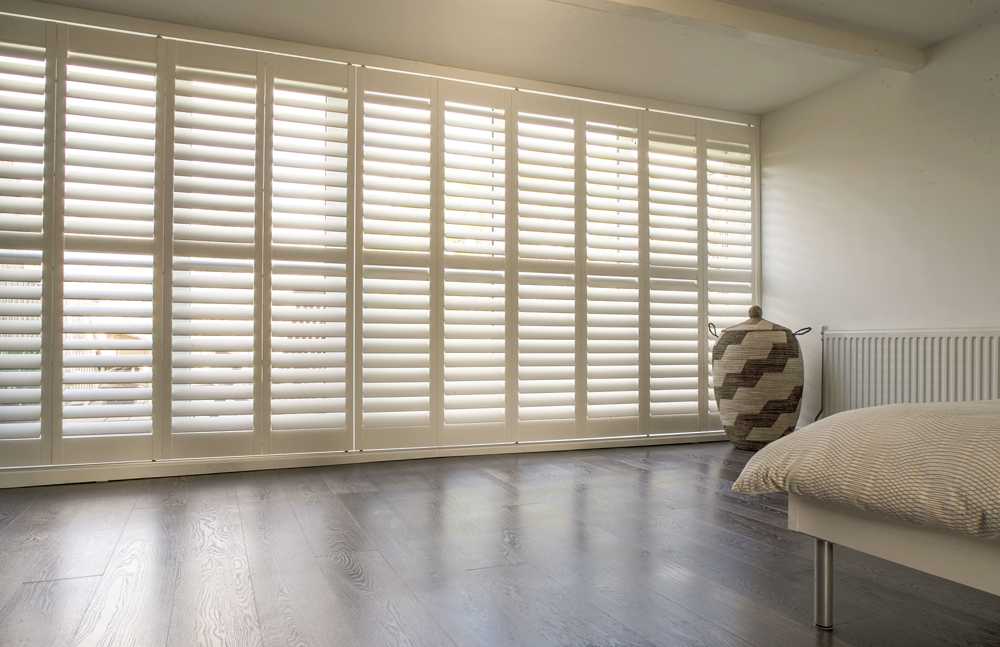 Tracked Shutters Sliding Wooden Track For Interior Patio
