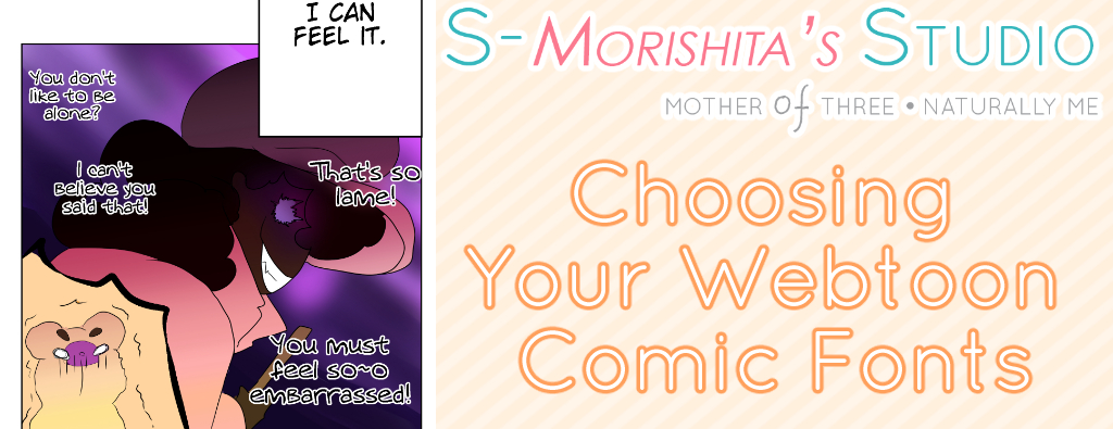 Choosing Your Webtoon Comic Fonts