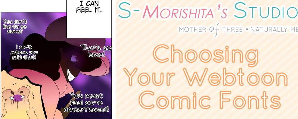 Choosing Your Webtoon Comic Fonts