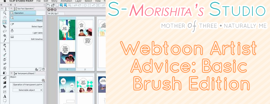 Webtoon Artist Advice: Basic Brush Edition