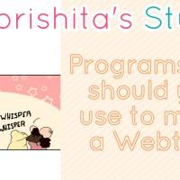 Programs you should you use to make a Webtoon