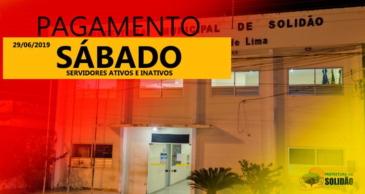 Prefeitura de Solidão confirma pagamento de junho de 2019
