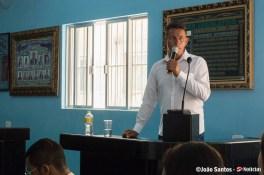 Vereador Vitorino Melo em explanação sobre o código tributário