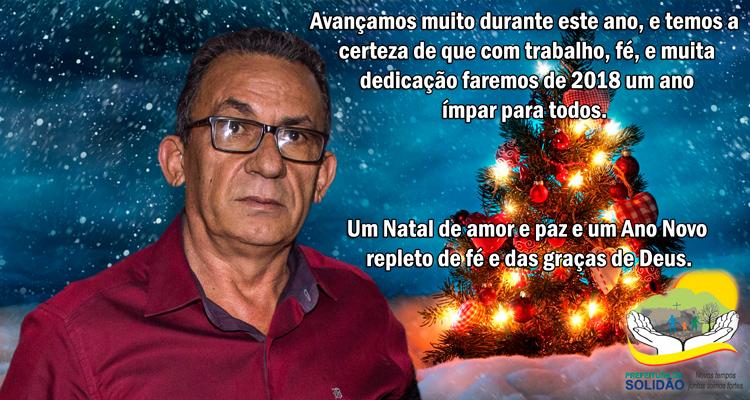 Mensagem de Natal do Prefeito Djalma Alves – Foto: João Santos/ S1 Notícias