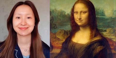 Jovem é desafiada a se transformar na Mona Lisa e o resultado ficou incrível!