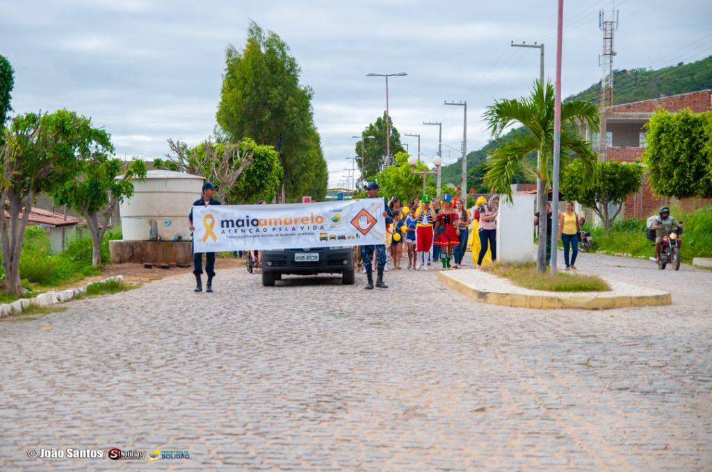 Caminha da E.M.J.G.N pelas principais ruas de Solidão – Foto: João Santos/ Divulgação