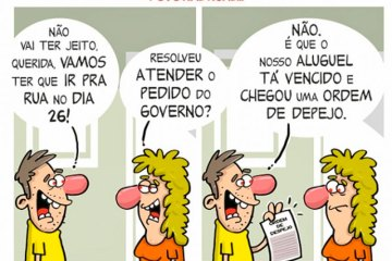 Charge do Dia: Povo nas Ruas... – Chargista Cazo