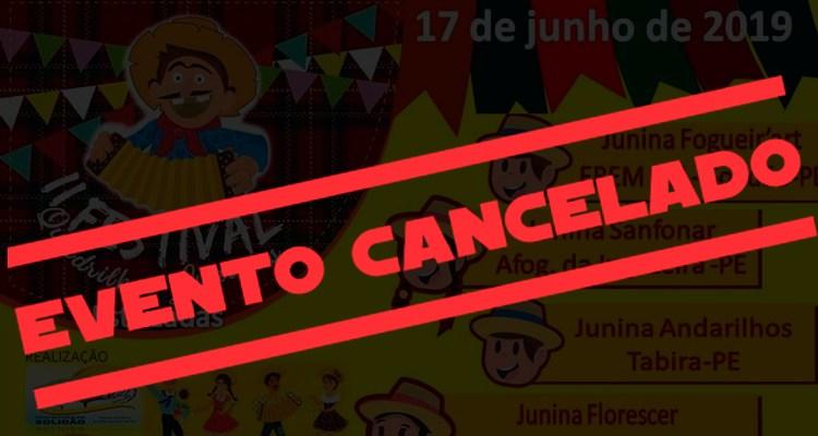 II Festival de Quadrilha Estilizadas de Solidão é cancelado