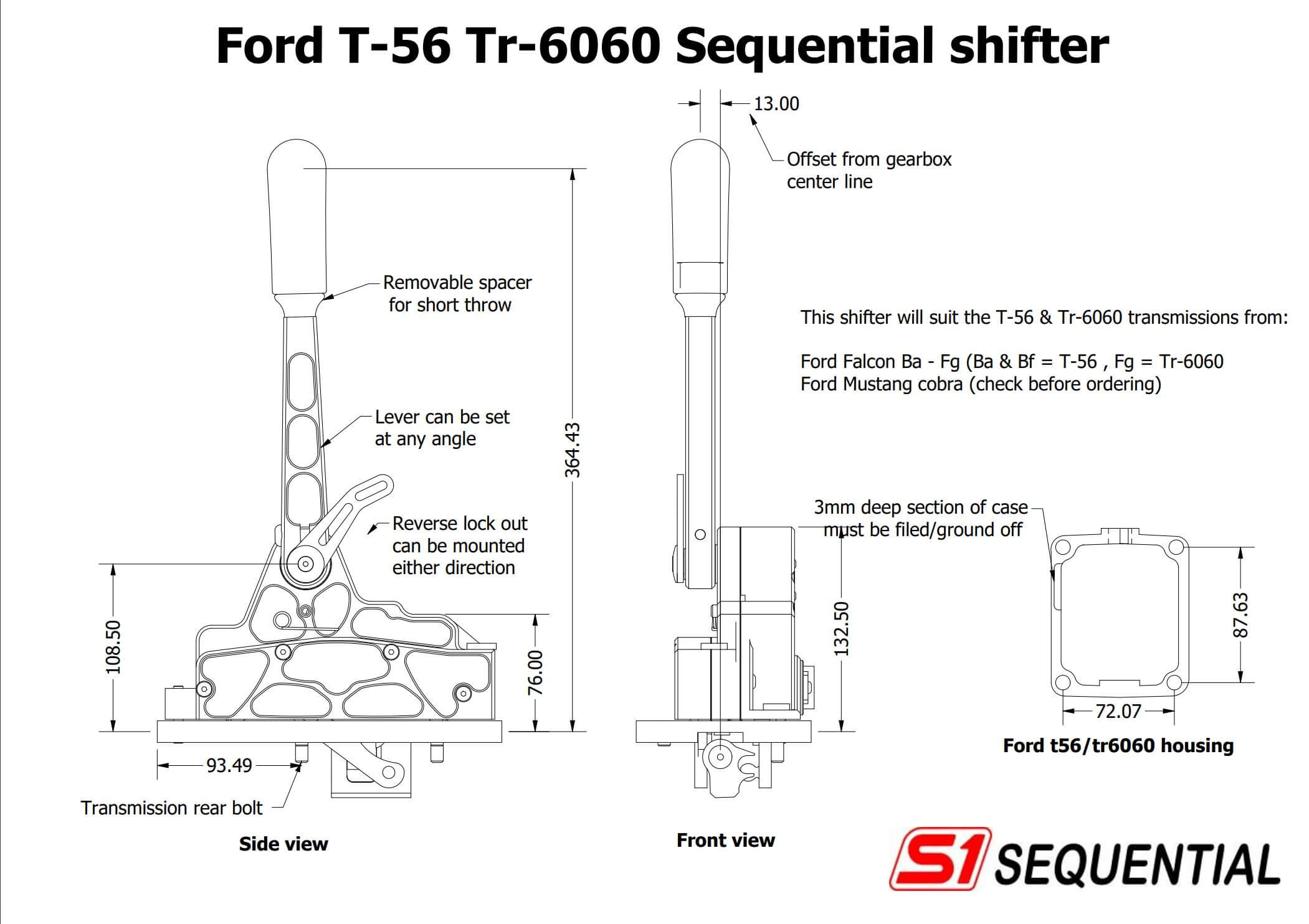 Sequential shifter : Ford T56/Tr6060