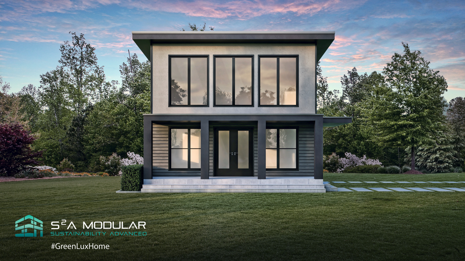 Model 6 – 951 sq. ft. ADU or Tiny house – 2 Bedroom, 2 Bath, Bed 1 overlooks Great Room – Modern