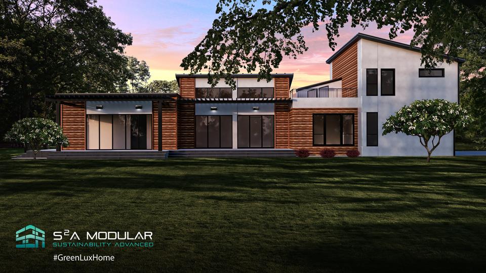 Model 8 – 2,670 sq. ft. 2 Story – 4 Bedroom, 3 Bath, rooftop deck – Contemp.