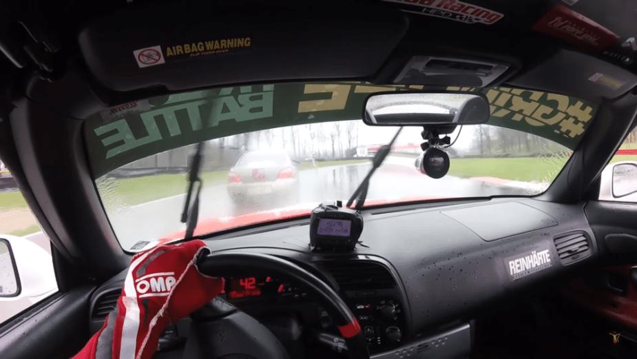 S2KI.com Jackie Ding Honda S2000 vs. Subaru STi Rain Battle Mid Ohio