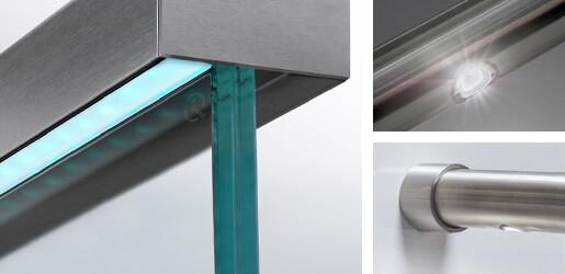led lighting system for balustrade