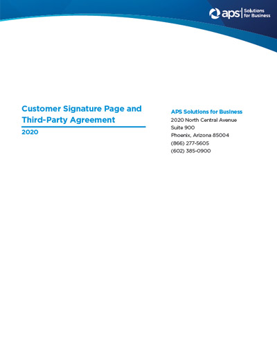 Customer Signature Page and Third-Party Agreement
