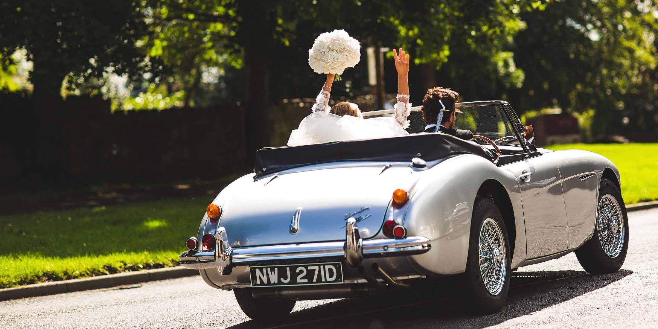 hire Classic car wedding Sheffield