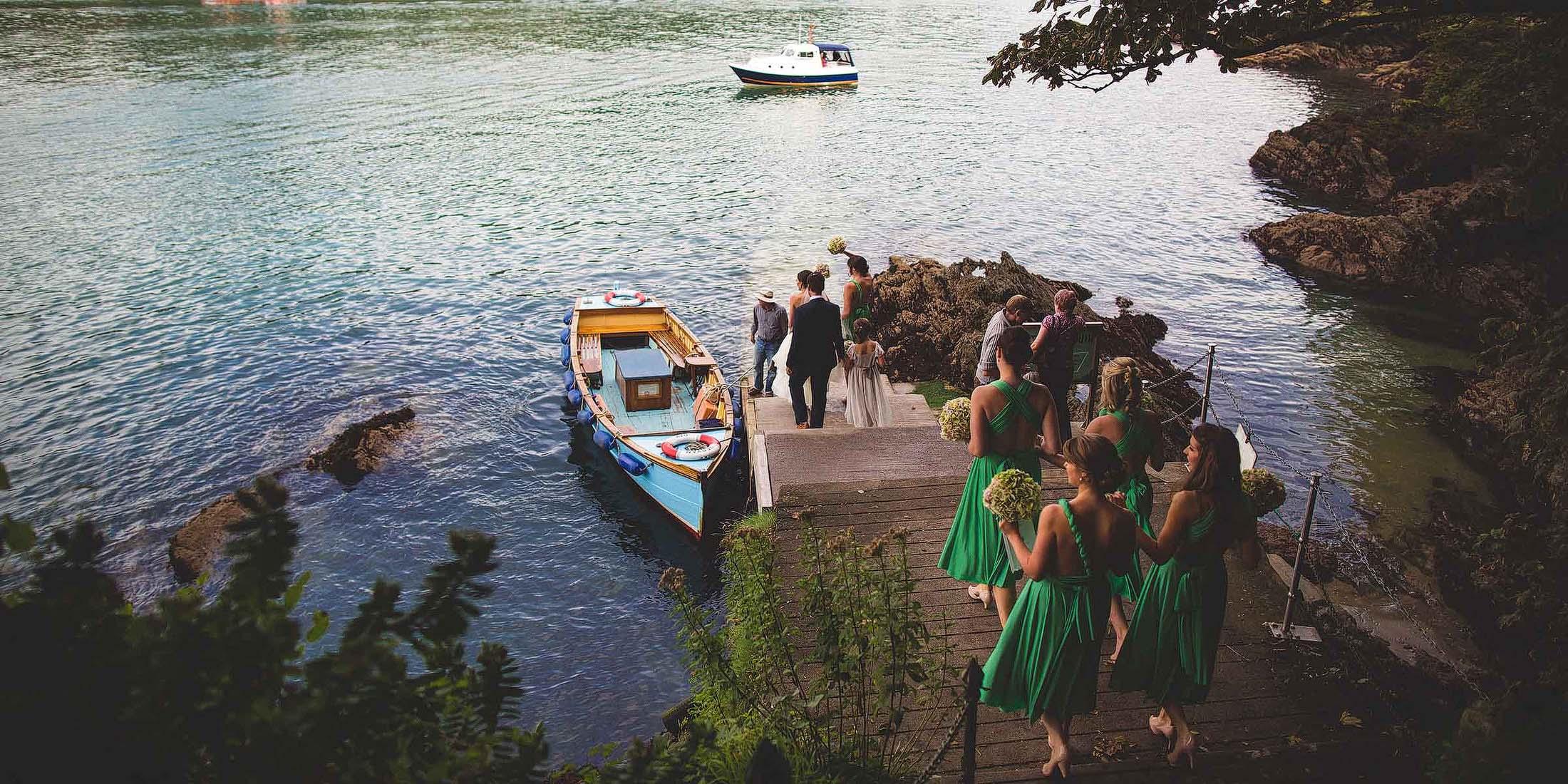 wedding boat Dartmouth