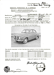 Saab 96 F.I.A. Specification