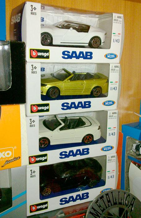 Burago Saab Aero-X and 9-3 Cabriolet