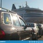 Boarding Silja Europa.