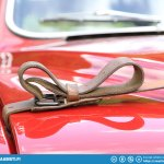 Saab 96 rally hood strap.