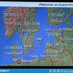 Sea voyage route from Travemünde to Helsinki.
