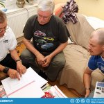 Simo explaining the 2012 Rally Of Thailand Safety Plan to dad and Tikkis.